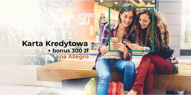 Z kartą kredytową zyskaj do 300 zł do wydania na Allegro od BNP Paribas